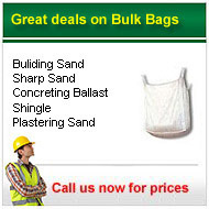 Bulk Bagged Aggregates from only £40.00+vat
