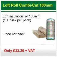 12 pack deal 100mm loft roll fibreglass only �238.80 +VAT